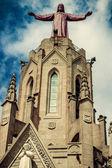 Church Sacred Heart.Tibidabo. Barcelona. — Stok fotoğraf