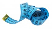 Measuring tape of the tailor isolated over white — Stock Photo