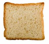 Whole wheat bread slice. Isolated — Stok fotoğraf