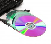 Optical drive open cd-rom — Stock Photo