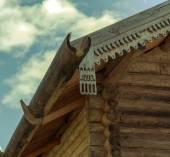 Russian Village attractions in Verkhniye Mandrogi — Stock Photo