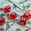 Dices Casino background dollar — Stock Photo #57572297