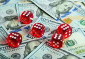 Dices Casino background dollar — Stock Photo
