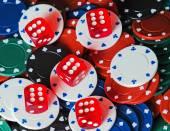 Dices Casino background — Stock Photo
