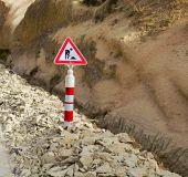 Road Works Ahead Warning Road Sign Cappadocia — Stock Photo