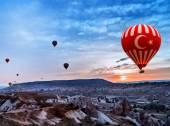 Turquia ar balão voador Capadócia — Fotografia Stock