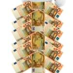 Banknote fir tree — Stock Photo #57945541