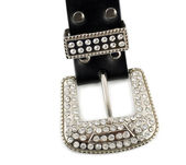 Diamond leather belt — Stock fotografie