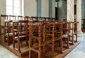 Chair in church — Stock Photo