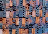 Clay brick textur background — Foto Stock