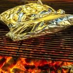 BBQ fire iron grill — Stock Photo #73697911