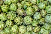Background of fresh artichokes — Stock fotografie