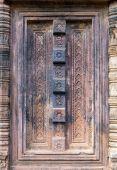 Doors Banteai Srei, Siem Reap, Cambodia — Stock Photo