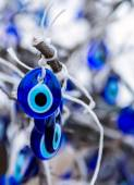 Traditional blue evil eyes — Stock Photo
