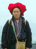 Woman Red Dao Minority Group — Stock Photo