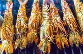 Garnalen koken van schaal-en schelpdieren — Stockfoto