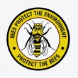 "Sign: ""Protect the bees"" — Stock Photo #52976173"