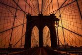 Brooklyn Bridge in New York — Stock Photo