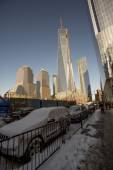 NEW YORK CITY - January 03: The construction of NYC's World Trad — Stock Photo