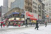 NEW YORK - JANUARY 21, 2014: Manhattan in snow  — Stock Photo