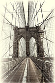 Ponte de Brooklyn em Nova york — Fotografia Stock