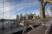 Ponte de brooklyn em nova york — Foto Stock