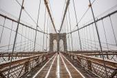 Brooklyn Bridge in winter time — Stock Photo