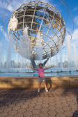 New york - 7 september: weergave van flushing meadows-corona park uni — Stockfoto