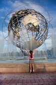 NEW YORK - 2014 September 7 : View of Flushing Meadows-Corona Park Uni — Stock Photo