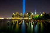 Tribute in Light. Downtown New York City — Stock Photo