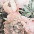 ������, ������: Art floral vintage background with pink peonies in pastels color