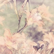 Art floral vintage sepia watercolor background with light coral — Stock Photo #53768527