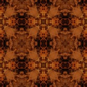 Art vintage damask seamless pattern watercolor background in bro — Stock Photo