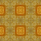 Art vintage damask seamless pattern background in yellow and bro — Stockfoto