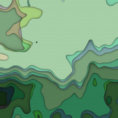 Art colorful transperancy waves pattern background in green colo — Stock Photo