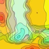 Art colorful transperancy waves pattern background in yellow, or — Stock Photo