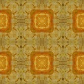 Art vintage damask seamless pattern background in yellow and bro — Stock Photo