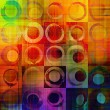 Art abstract geometric textured rainbow background with circles  — Stock Photo #53795525