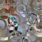 Kunst abstract geometrische getextureerde kleurrijke achtergrond met cirkels — Stockfoto