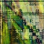 艺术抽象几何纹理多彩背景与广场 — 图库照片