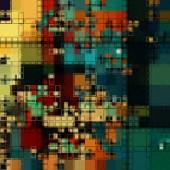 Konst abstrakt färgglada geometriska seamless mönster — Stockfoto