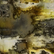 Art abstract acrylic and pencil background in grey, yellow, blac — Stock Photo #53812945