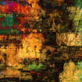 Art abstract acrylic and pencil background in red, yellow, brown — Stock Photo