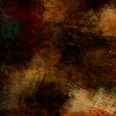 Art abstract acrylic and pencil background in yellow, orange, gr — Stock Photo