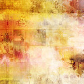 Art abstract acrylic and pencil tiled background in white, yello — Stock Photo