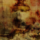 Art abstract acrylic and pencil background in beige, brown, sepi — Stock Photo