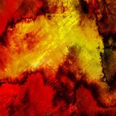 Kunst abstrakt Acryl und Bleistift Hintergrund in gelb, rot, orang — Stockfoto