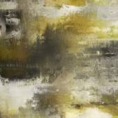 Art abstract acrylic and pencil background in grey, yellow, gree — Stock Photo