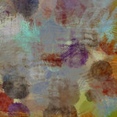 Art abstract acrylic and pencil background in beige, brown, blue — Stock Photo