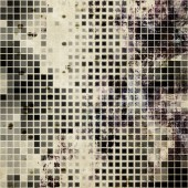 Art abstract monochrome halftone pattern background in white, be — Stock Photo